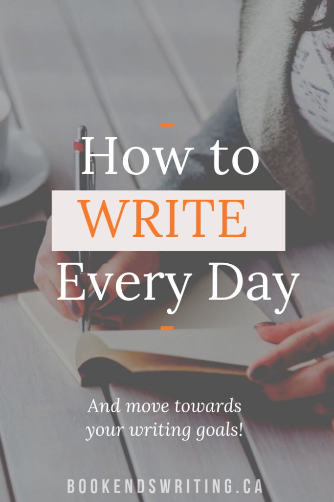 build a writing habit Pinterest pin