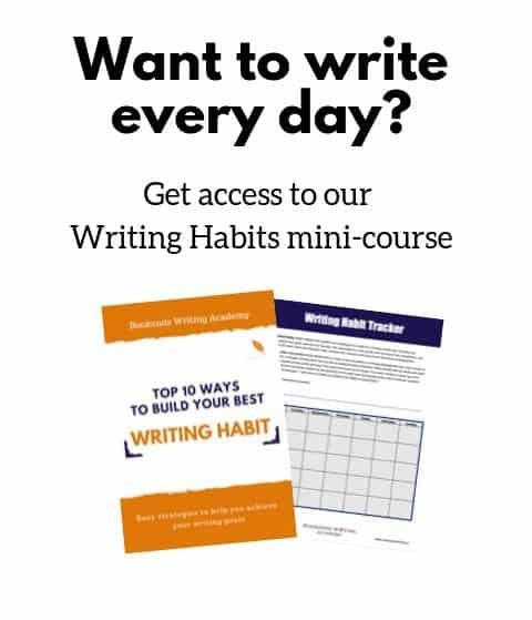 Sign up to get our free Writing Habits mini-course.